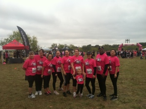 Our team before the run